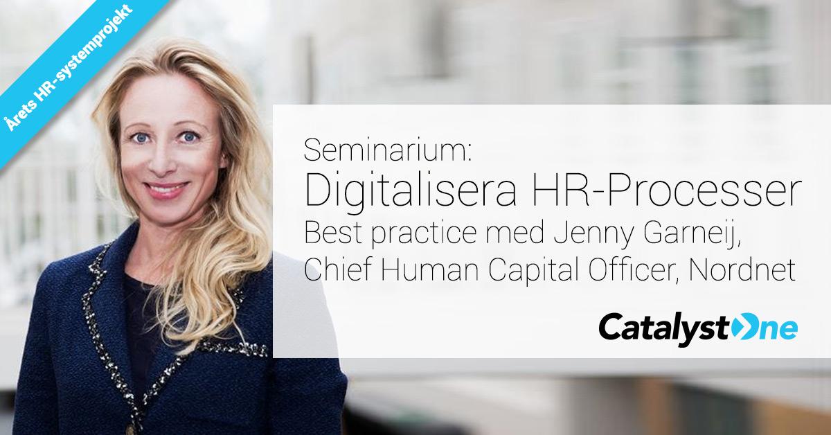 Digitalisering inom Frukostseminarie med Nordnet och arets HR-systemprojekt